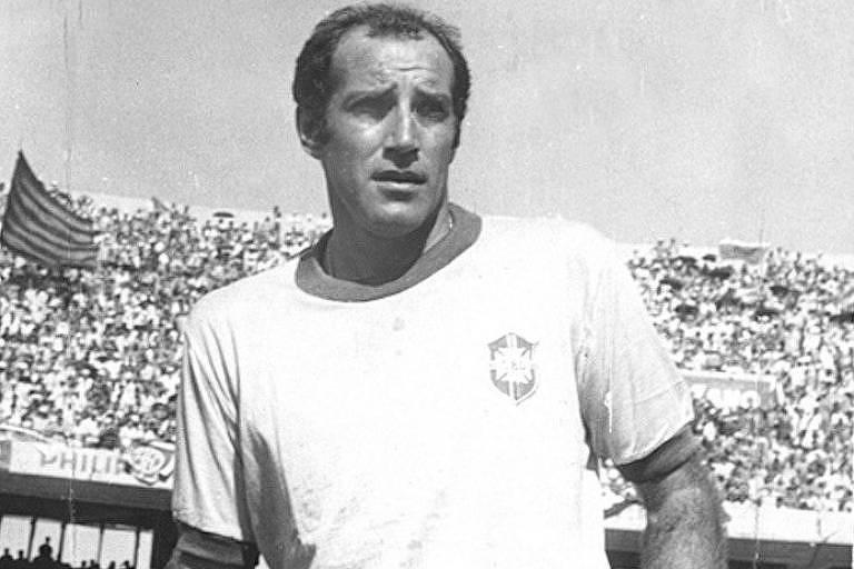 """O meia Gérson, o """"Canhotinha de Ouro"""" da seleção brasileira de 1970"""