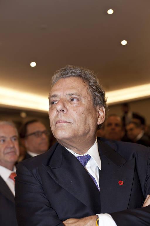 Técio Lins e Silva, presidente do IAB, durante jantar com ministro do STF Gilmar Mendes