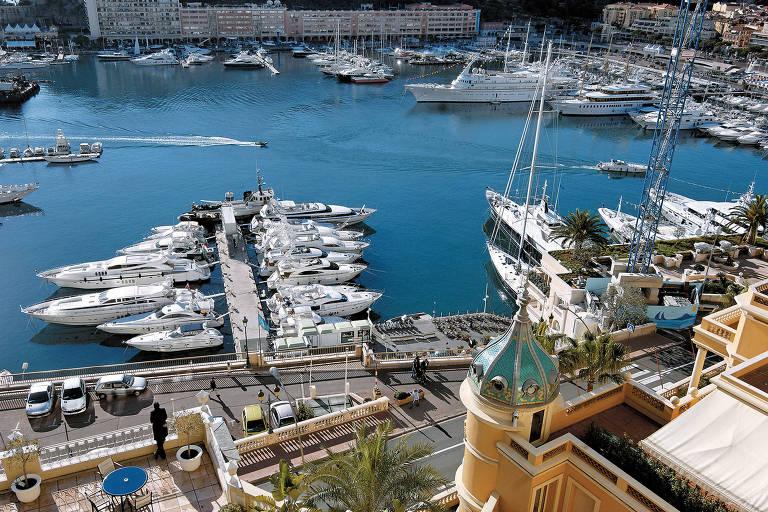 Vista do hotel Hermitage, em Mônaco