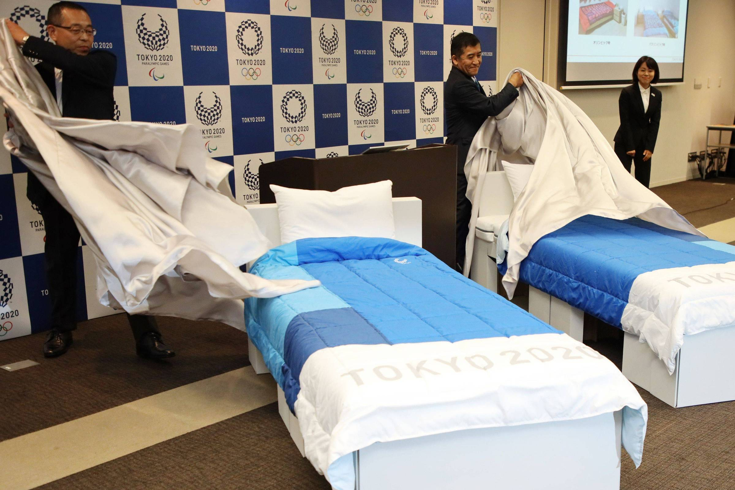 Beds at Tokyo Olympic Village will be made of cardboard