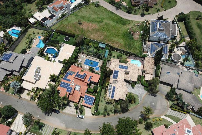 Condomínio residencial em Campinas onde moradores adotaram o sistema solar fotovoltaico