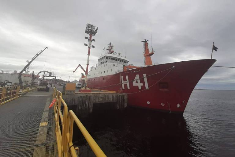 Para chegar à Antártida, navio brasileiro precisa superar estreito que já afundou 800 embarcações