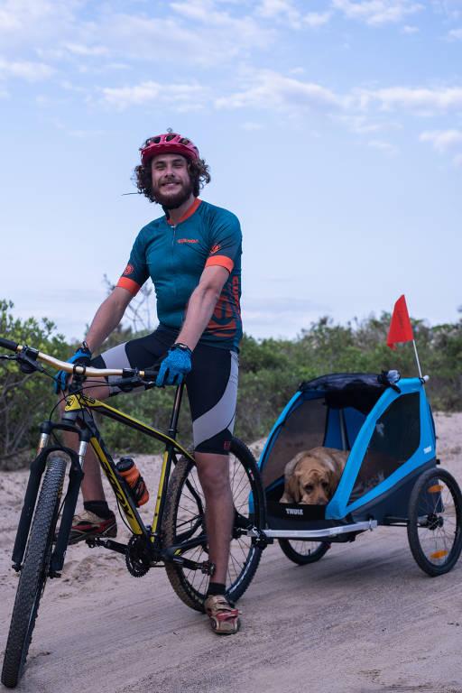Ciclista cria método para pedalar sem enxergar
