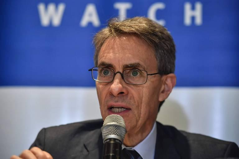 O diretor da ONG Human Rights Watch (HRW), Kenneth Roth, durante evento em São Paulo em outubro