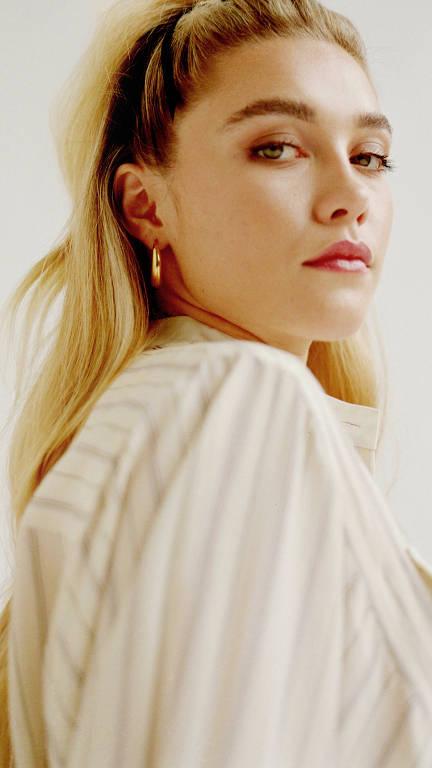 A atriz Florence Pugh em Nova York, aos 24 anos