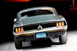 One of the most famed cars from American cinema, the 1968 Ford Mustang, used in the car chase scene in the Steve McQueen's movie