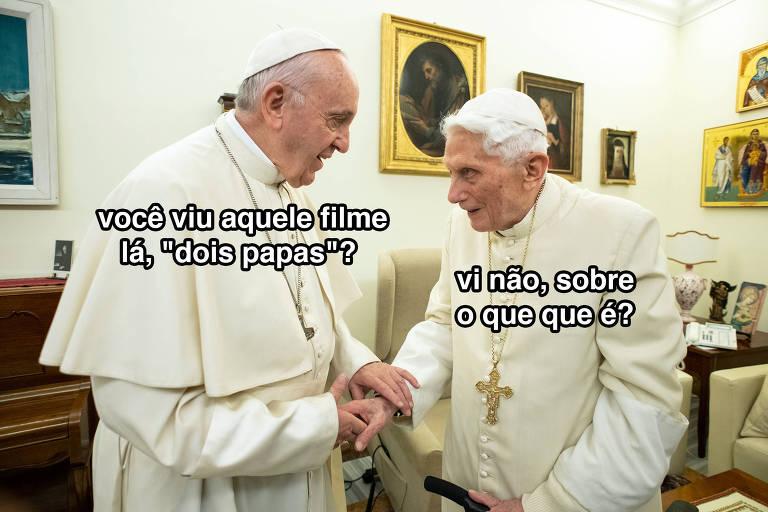 Dois papas discutem duas polêmicas pop