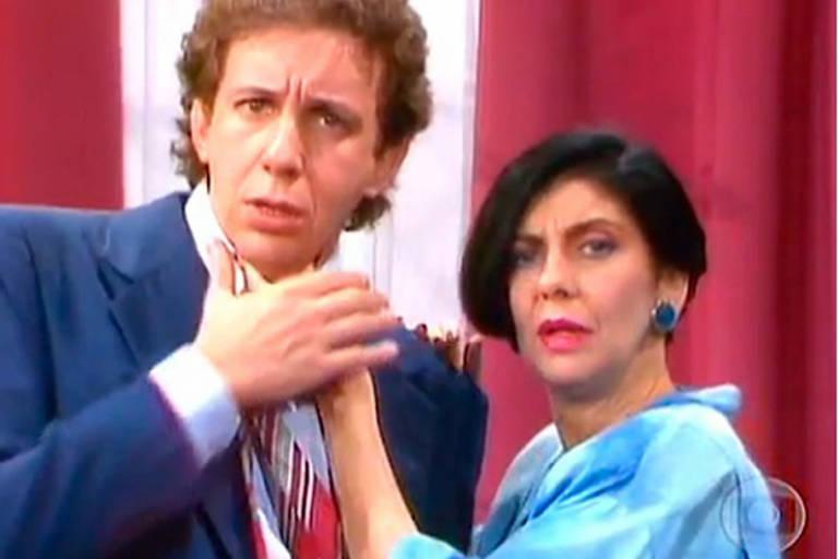 "Montenegro (Marco Nanini) e Rafaela (Marília Pêra) em ""Brega & Chique"""