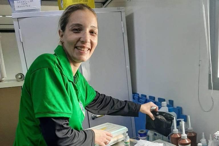 A capitão tenente Letízia Aurilio Matos, 40, integra o grupo de saúde da Marinha desde 2015