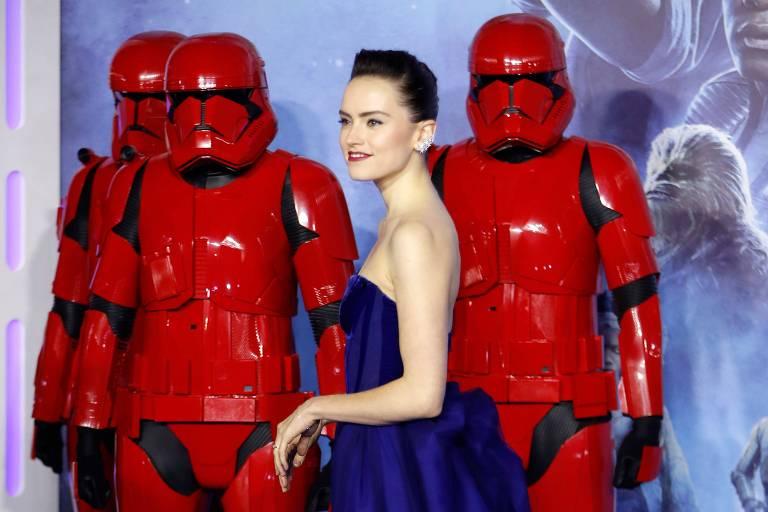 Daisy Ridley foi protagonista em 'Star Wars: The Rise of Skywalker'