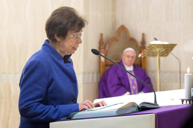 A italiana Francesca Di Giovanni no Vaticano, em foto de 2013