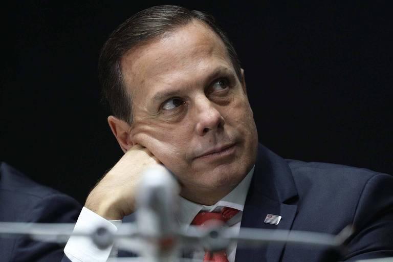 O governador João Doria (PSDB) durante evento no Palácio dos Bandeirantes em que a companhia aérea Gol lançou serviço para o estado de SP, em agosto de 2019