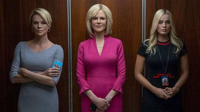 Charlize Theron, Nicole Kidman e Margot Robbie em 'Bombshell'