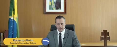 Secretário de Cultura do governo Bolsonaro, Roberto Alvim, em vídeo em que parafraseia Goebbels