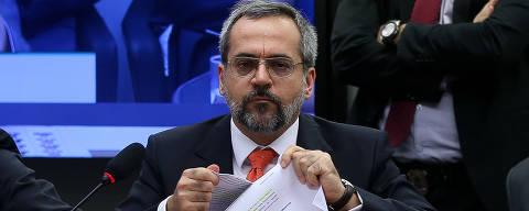 BRASÍLIA, DF, 11.12.2019 - O ministro da Educação, Abraham Weintraub, participa de audiência pública na Comissão de Educação da Câmara dos Deputados, em Brasília (DF). (Foto: Pedro Ladeira/Folhapress)