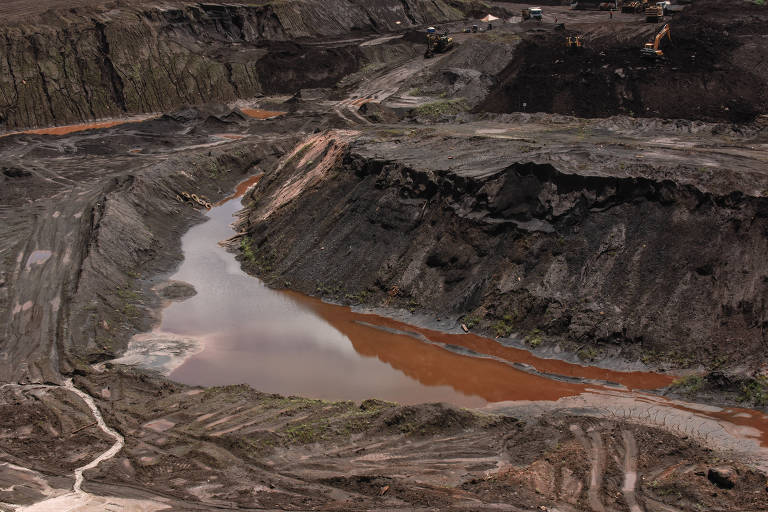Lama resultante do rompimento de barragem da Vale em Brumadinho, de onde foram retirados despojos humanos