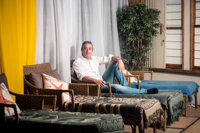 O empresário Gustavo Albanesi, dono do Buddha Spa, em São Paulo