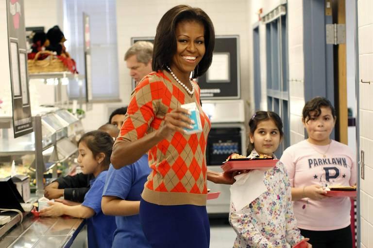 Michelle Obama visita cantina