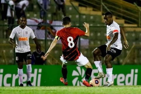 17.jan.2019 - Corinthians e Athletico-PR pelas quartas de final da Copa São Paulo de Futebol Júnior de 2020 (Créditos: Divulgação/Twitter Corinthians)