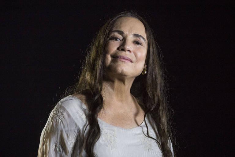 """Retrato da atriz Regina Duarte na Cinemateca durante a gravação do programa """"Plano Sequência"""""""