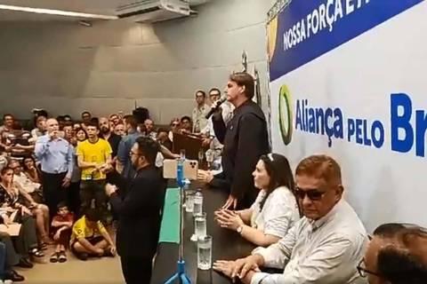 Jair bolsonaro no evento pela aliança pelo brasil Foto: Jair Bolsonaro no facebook