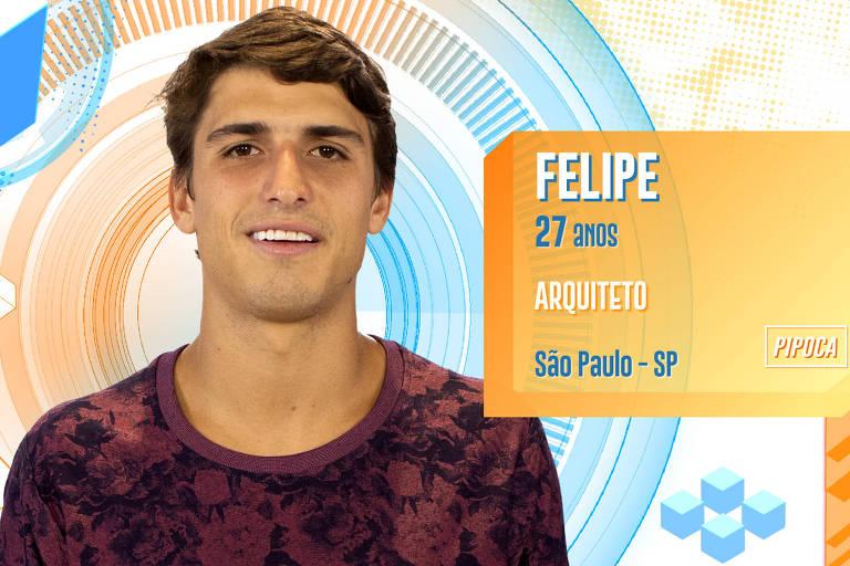 Felipe, 27, participante do BBB 20