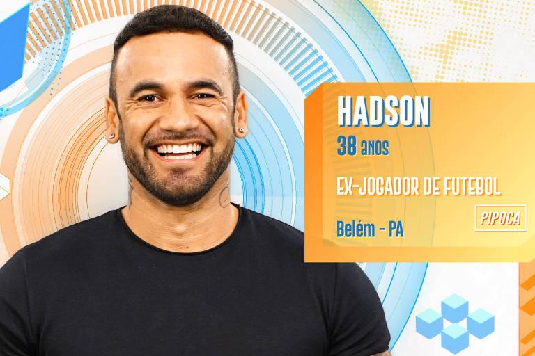 Hadson é ex-jogador de futebol de 38 anos e já foi casado por 15 anos