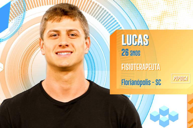 Lucas é fisioterapeuta, tem 28 anos e é de Florianópolis (SC)