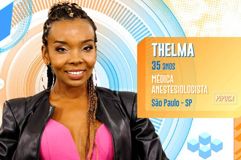 Thelma é médica anestesista, tem 35 anos e é passista