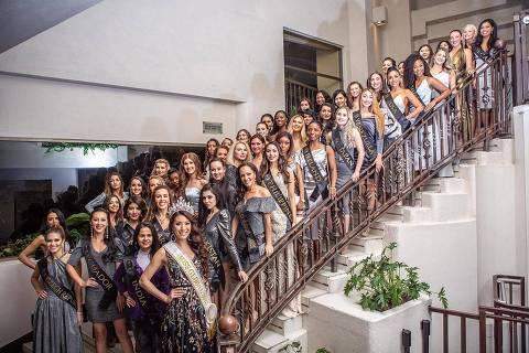 Candidatas do Miss Global International 2019, que aconteceu em Oaxaca, no México ORG XMIT: bHpmFsk04K8e77GuPnGa