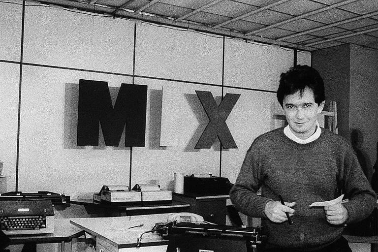 """O apresentador Serginho Groisman nos anos 80, quando apresentava o programa """"TV Mix"""", da TV Gazeta."""