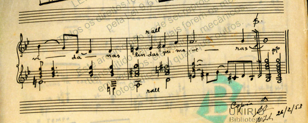 partitura manuscrita