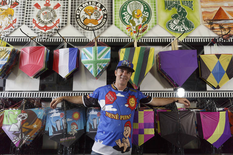 Renato Haro é dono de uma loja de pipas no bairro de Americanópólis, que teve grande aumento nas vendas durante a pandemia de Covid-19