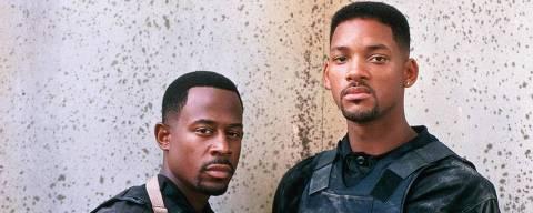 Martin Lawrence e Will Smith em cena de 'Os Bad Boys'; os dois voltaram em 2020 com 'Bad Boys para Sempre'
