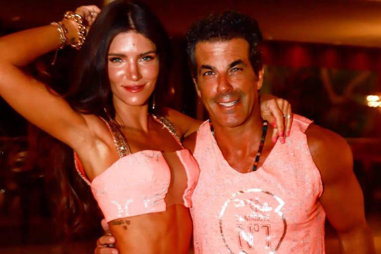O empresario Alvaro Garnero e sua noiva Lou Montenegro serão pais