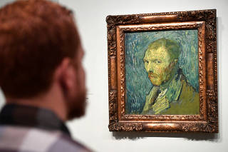 The Van Gogh museum presents a painting in Amsterdam