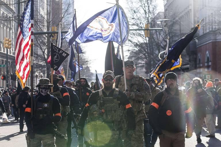 Protesto contra restrição na compra e posse de armas nos EUA