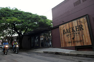 A general view shows the Backer beers production plant at the Belo Horizonte
