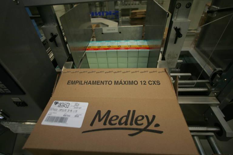 Fábrica do laboratório de remédios genéricos da Medley, em Campinas (SP). Foto tirada em julho de 2005