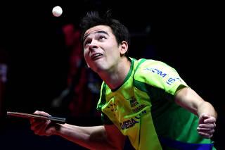 (SP)CHINA-ZHENGZHOU-TABLE TENNIS-ITTF WORLD TOUR GRAND FINALS-MEN'S SINGLES-QUARTERFINALS (CN)