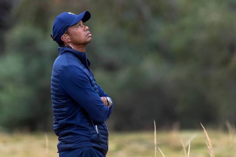 Tiger Woods na Presidents Cup, tradicional torneio de golfe em que ele foi capitão da equipe americana