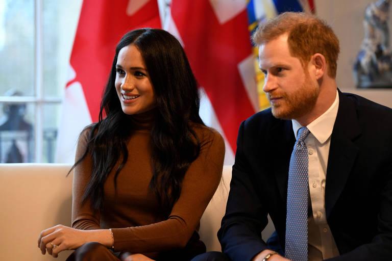Príncipe Harry e sua mulher, Meghan Markle