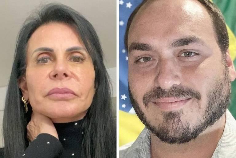 Gretchen ironiza publicação de Carlos Bolsonaro sobre Thammy
