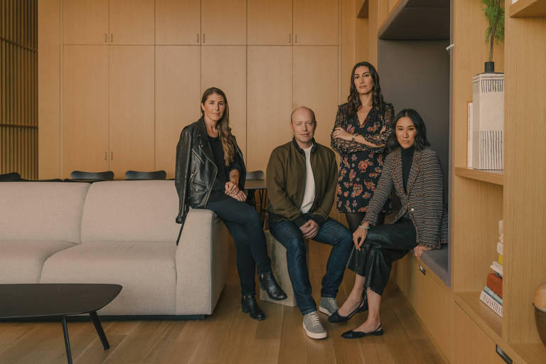 The Instagram executive team, from left: Karina Newton, Charles Porch, Tamar Shapiro and Eva Chen