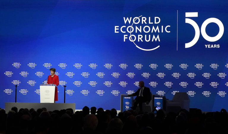 Cinco momentos curiosos do 1º dia em Davos