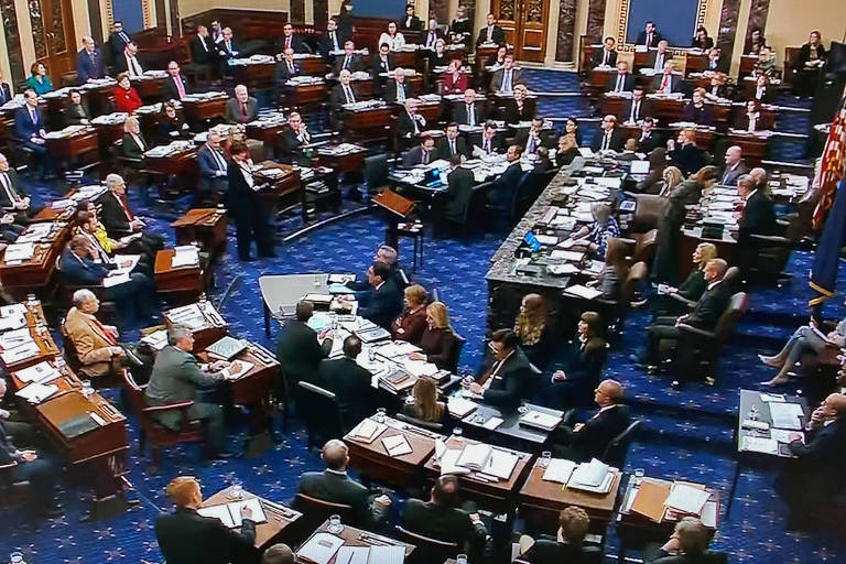Sessão no Senado dos EUA para definir regras do julgamento de impeachment de Trump