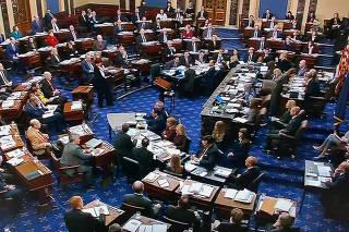 U.S. Senate votes down Schumer amendment seeking White House evidence during impeachment trial of President Trump at the U.S. Capitol in Washington