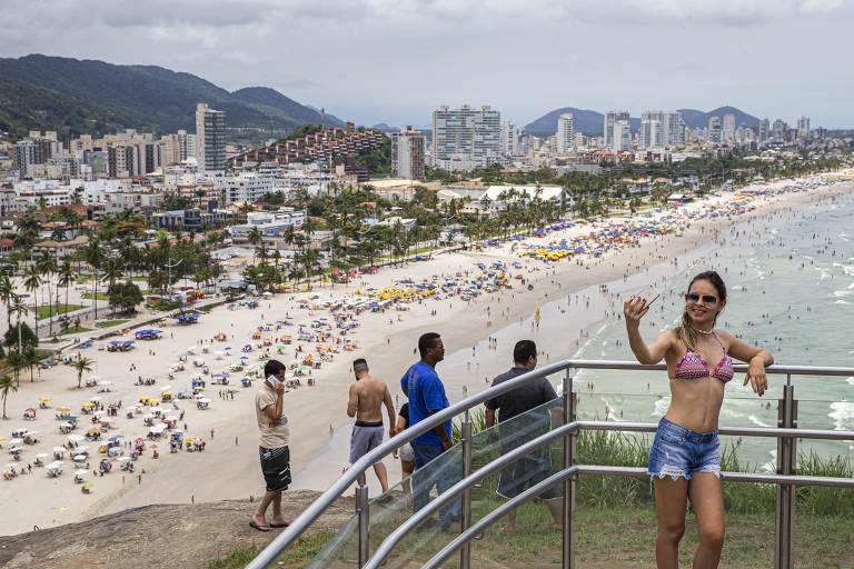 Mirante da Campina, na praia da Enseada, no Guarujá