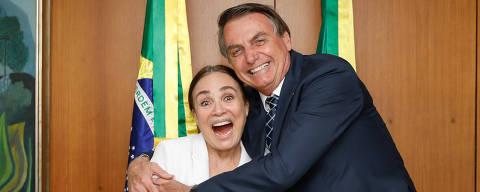 (Brasília - DF, 22/01/2020) Presidente da República Jair Bolsonaro durante encontro com Regina Duarte Foto: Carolina Antunes /PR