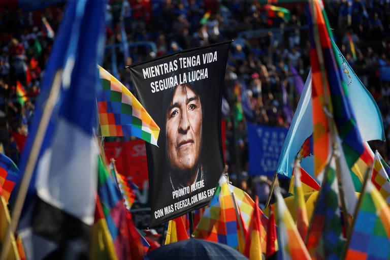 Evo Morales faz festa na Argentina para comemorar 14 anos de 1ª posse